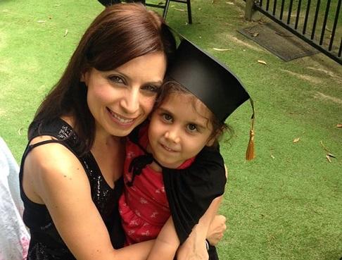 Mummy and Caterina grad
